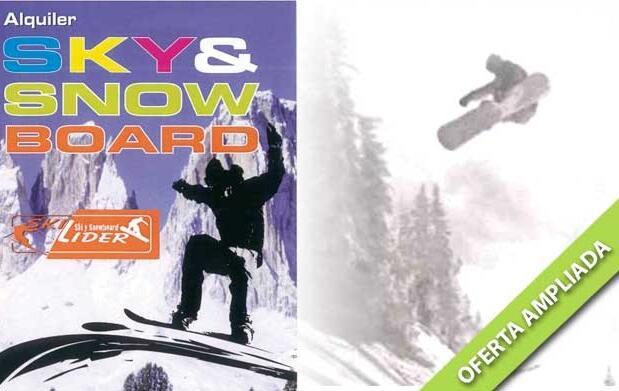 Alquiler de equipo Ski o Snowboard, OFERTA AMPLIADA
