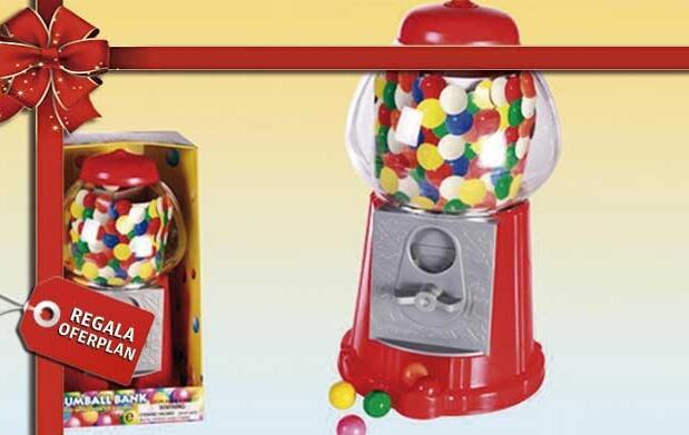 Máquina de bolas de chicle por 12€
