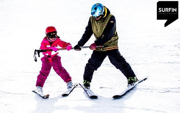 1, 2 o 3 días de curso de esquí o snow para 2 personas