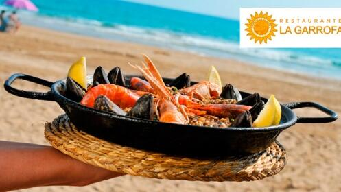 4 Tapas + 4 Bebidas junto a la playa en Restaurante La Garrofa