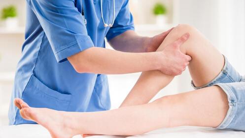 Sesión de fisioterapia, opción descarga deportiva