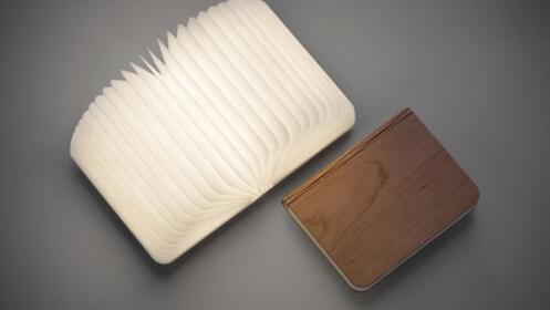 Lámpara led en forma de libro