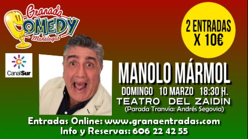 2 entradas monólogo Manolo Mármol, 10 marzo