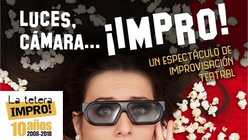 1 entrada doble teatro Luces, cámara... ¡impro!, 18 marzo