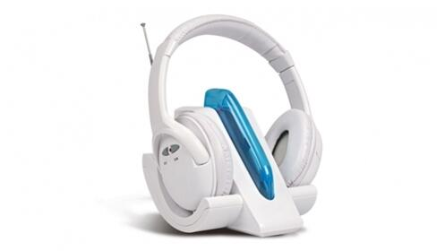 Auriculares inalámbricos en color blanco