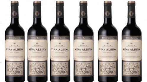 Pack de 6 botellas D.O.C. Rioja Viña Albina Tinto Gran Reserva