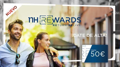 50€ en puntos NH Rewards y 15% de descuento en los hoteles NH Hotel Group