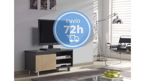 Mueble TV color Roble con 1 puerta