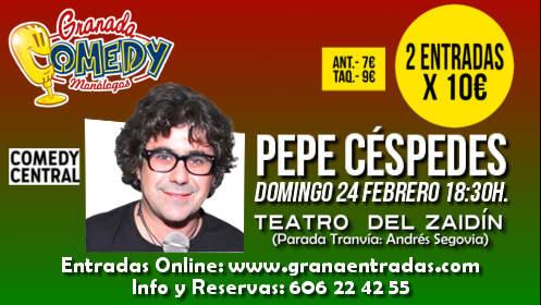 2 entradas monólogo Pepe Cespedes, 24 febrero