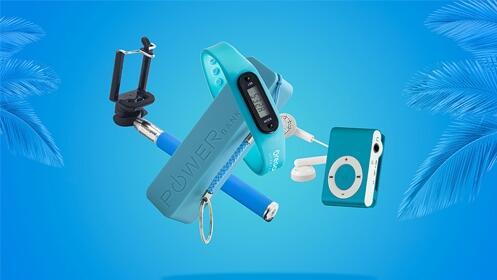 Pack  Batería-llaveroPowerCell 2200 mAh + MP3 + Palo de selfie + Pulsera Oregon