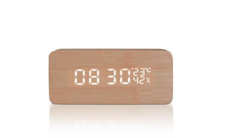 Despertador LED de madera RT
