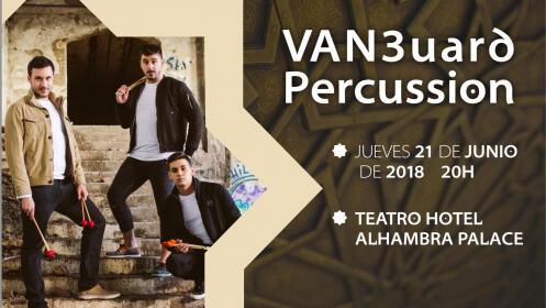 Espectáculo percusión en Hotel Alhambra Palace