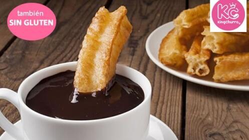 Chocolate con churros artesanales, rellenos o sin gluten