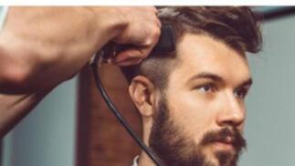 Corte de caballero + peinado, opción arreglo barba
