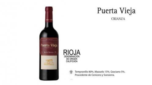 Pack de 6 vinos Puerta vieja crianza 2016