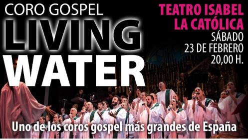 Entradas Coro Gospel Living Water, 23 febrero