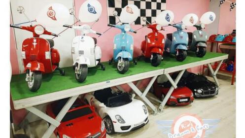 2 sesiones en vehículos eléctricos para niños