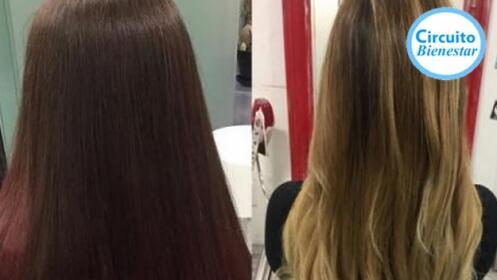 Lavado + corte + peinado + mascarilla, opción a color