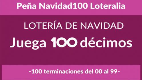 Peña 100 números de Lotería de Navidad