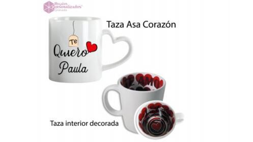 Fundas de móvil, tazas, libretas y cojín personalizados con foto o mensaje por San Valentín