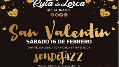 Menú San Valentín en Ruta de Lorca en Alfacar